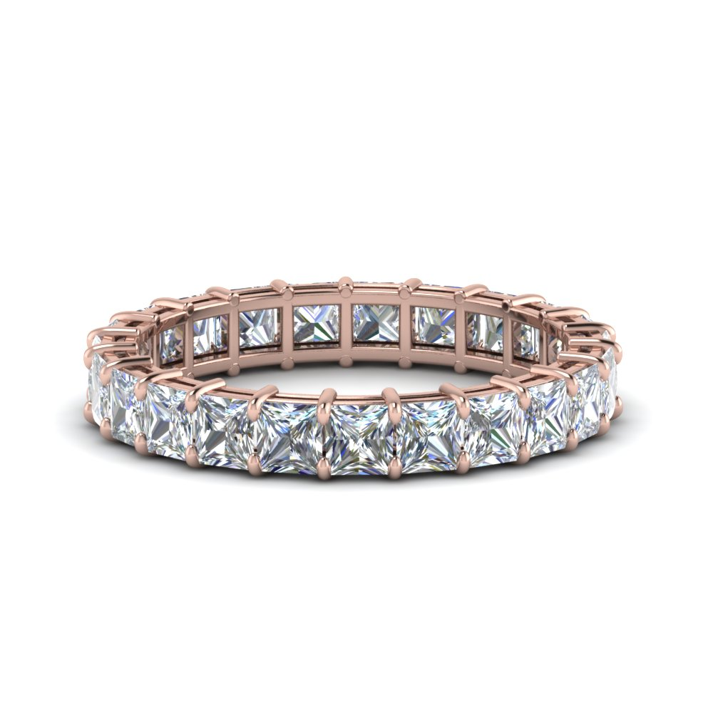 4 Ct. Diamond Mom Eternity Ring In 14K Rose Gold