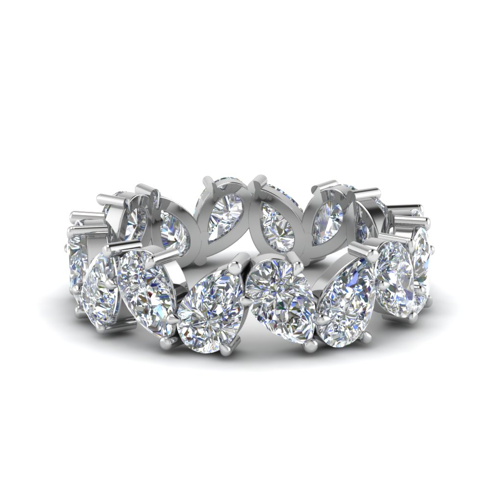 4 Ct. Pear Diamond Eternity Band