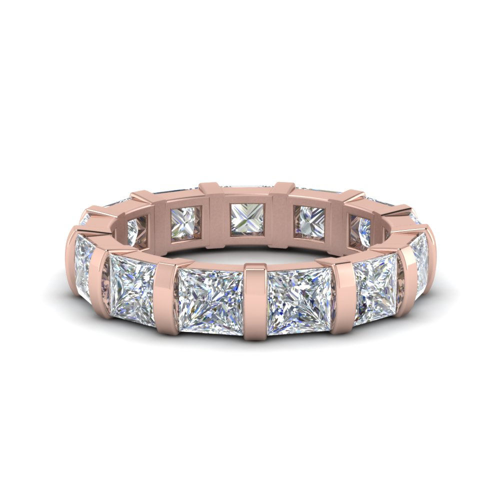 Princess Cut Bar Set Eternity Band