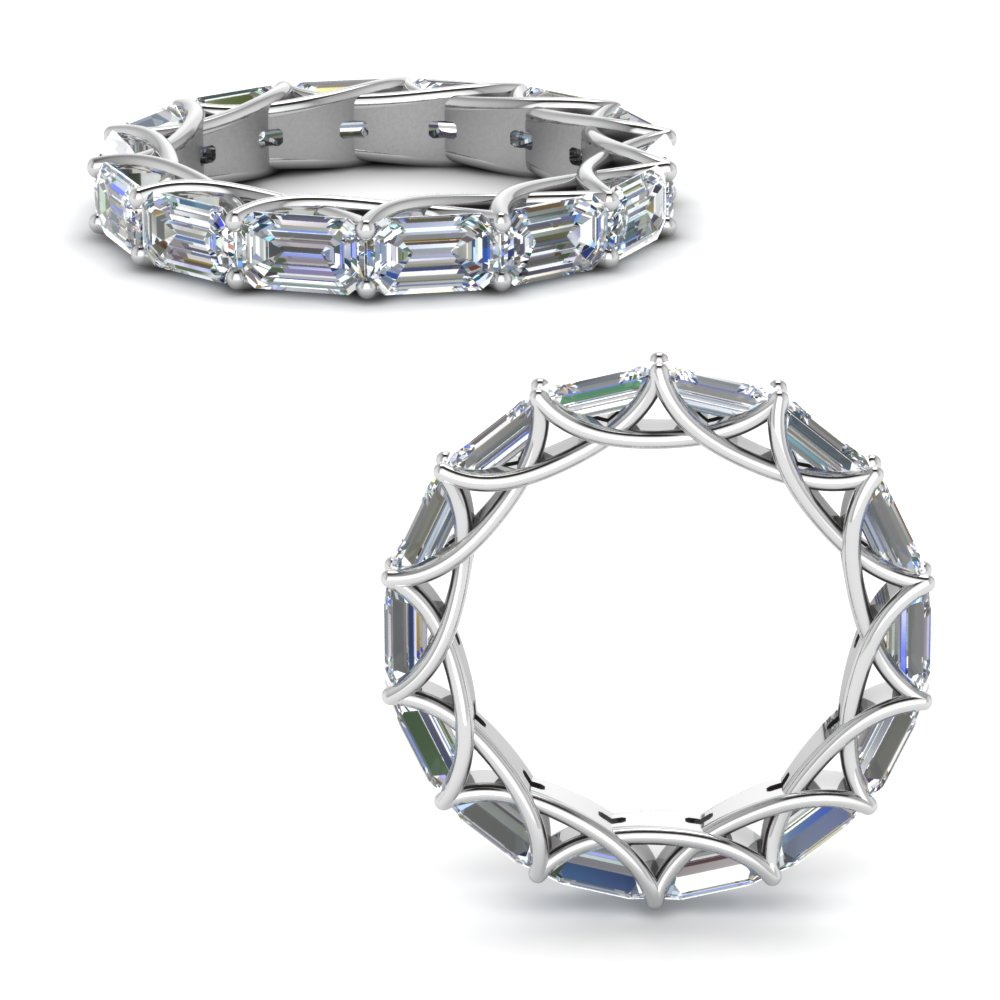 4.20 Ct. Diamond Trellis Eternity Ring