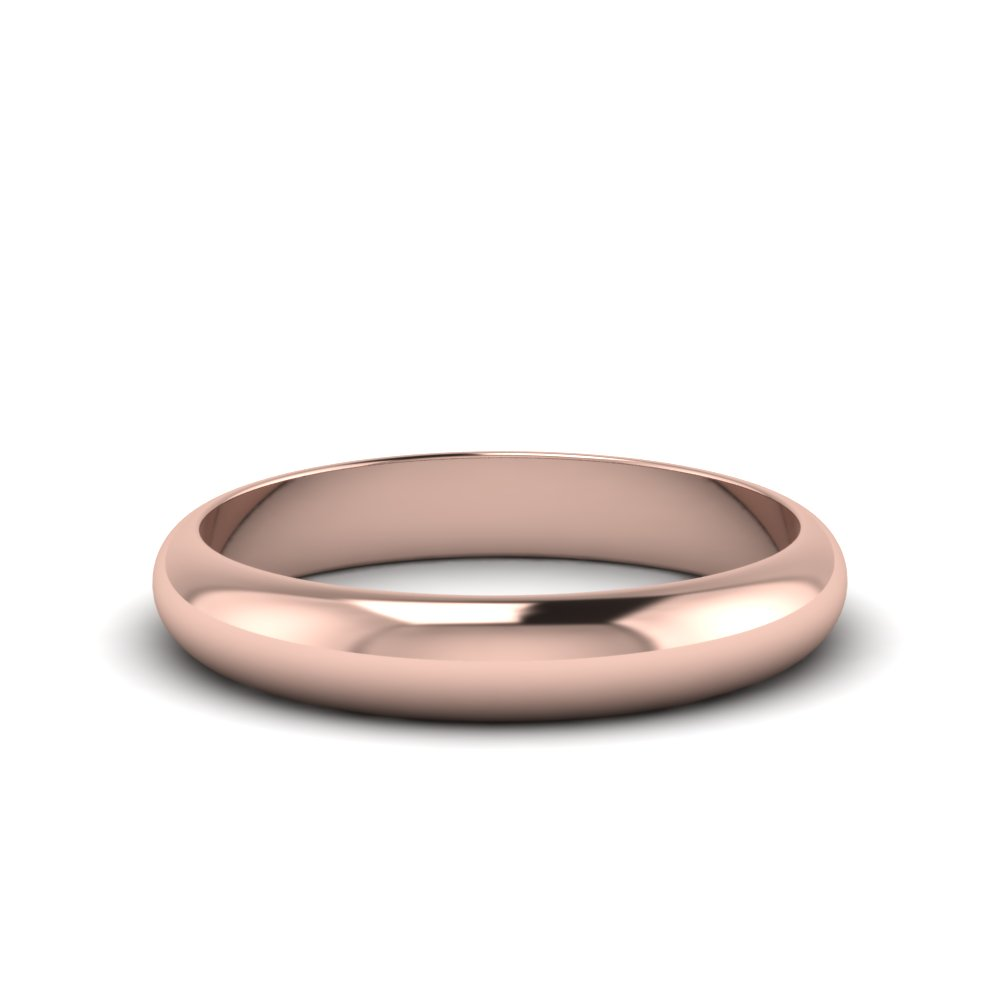 4MM Rose Gold Glossy Band