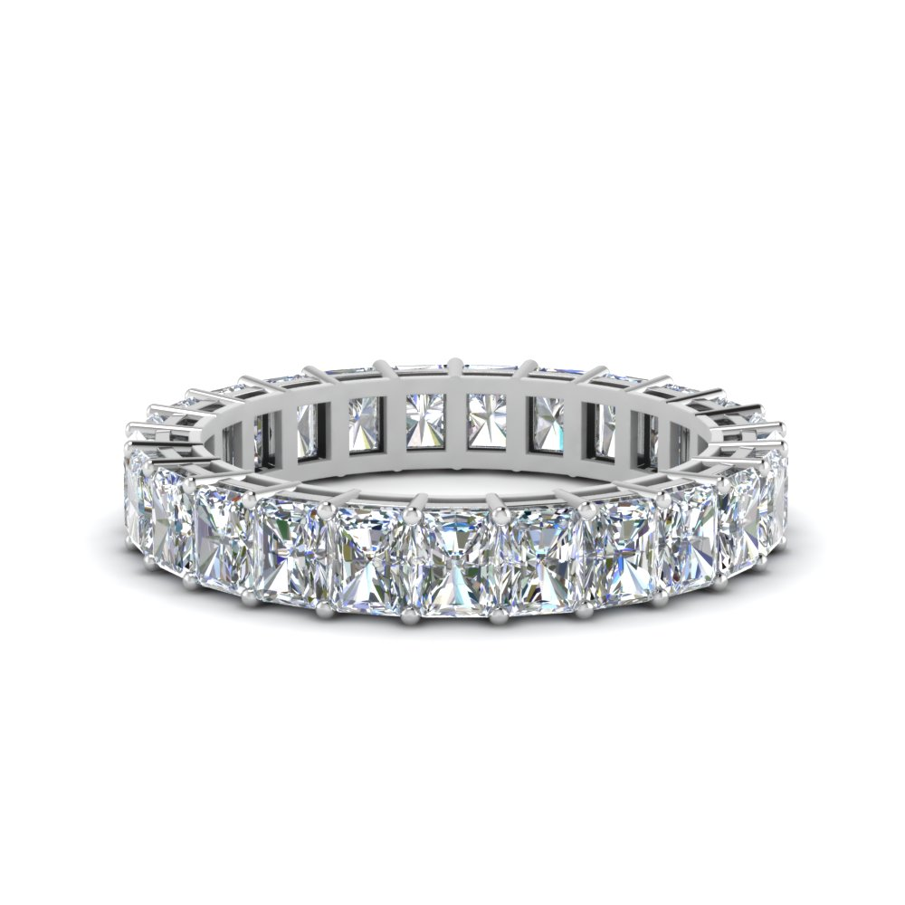 5 Carat Radiant Cut Eternity Band