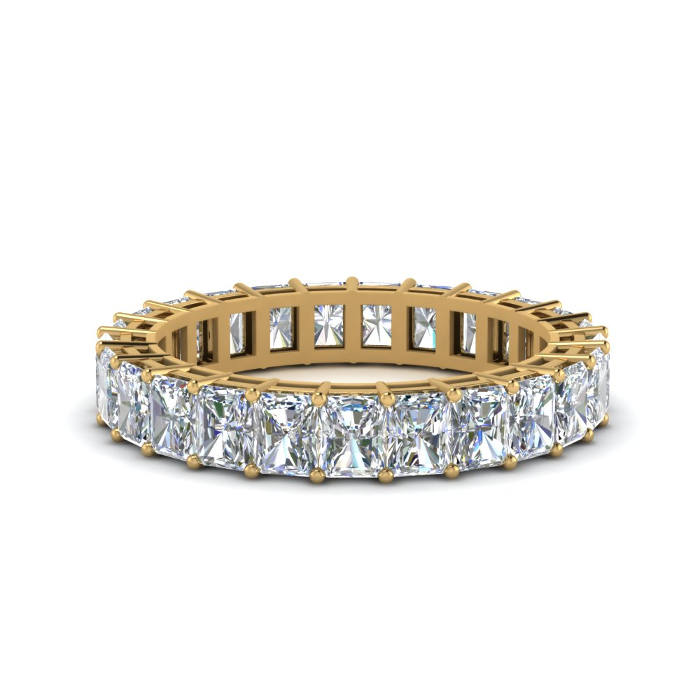 5 Carat Radiant Cut Band
