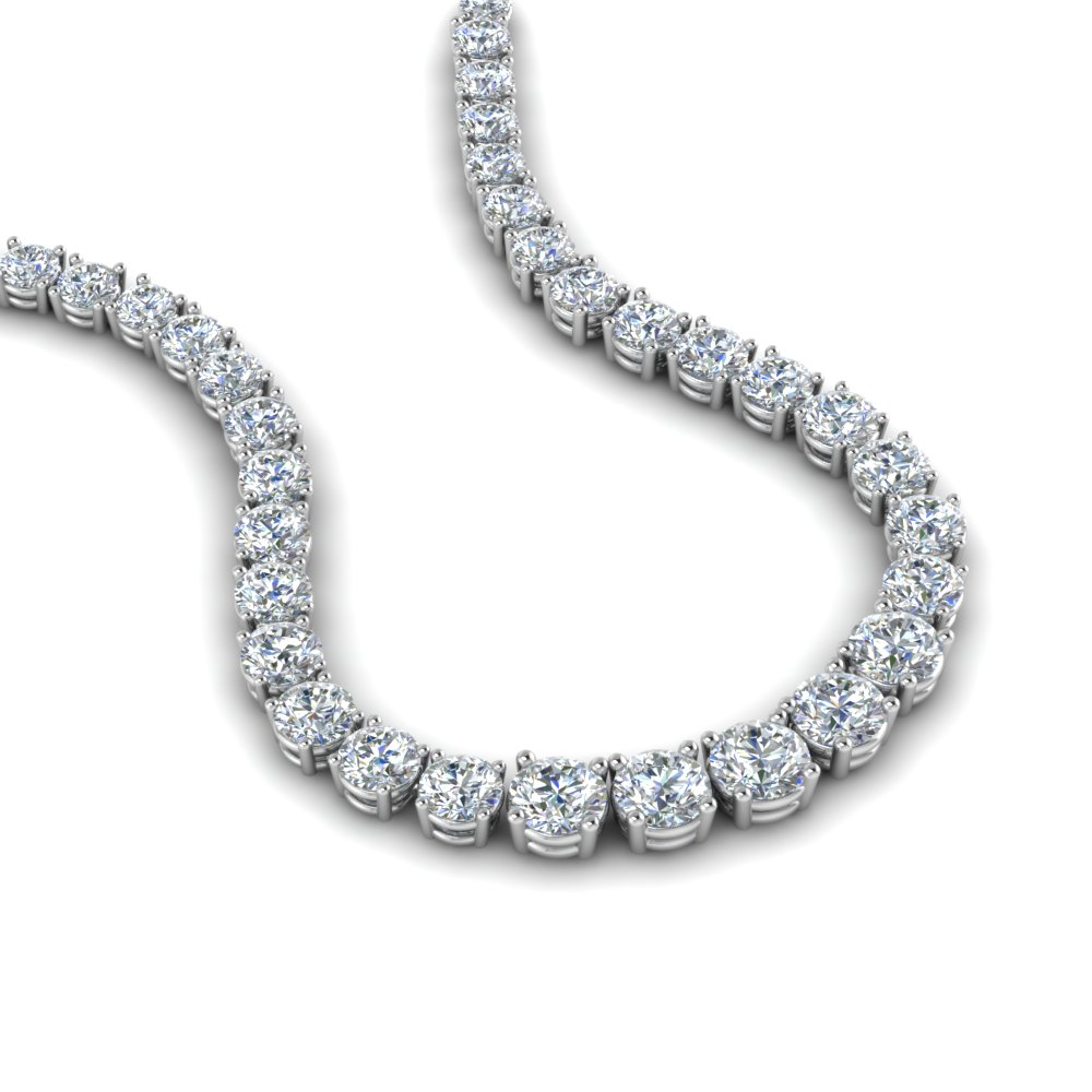 5 Ct. Round Diamond Eternity Necklace