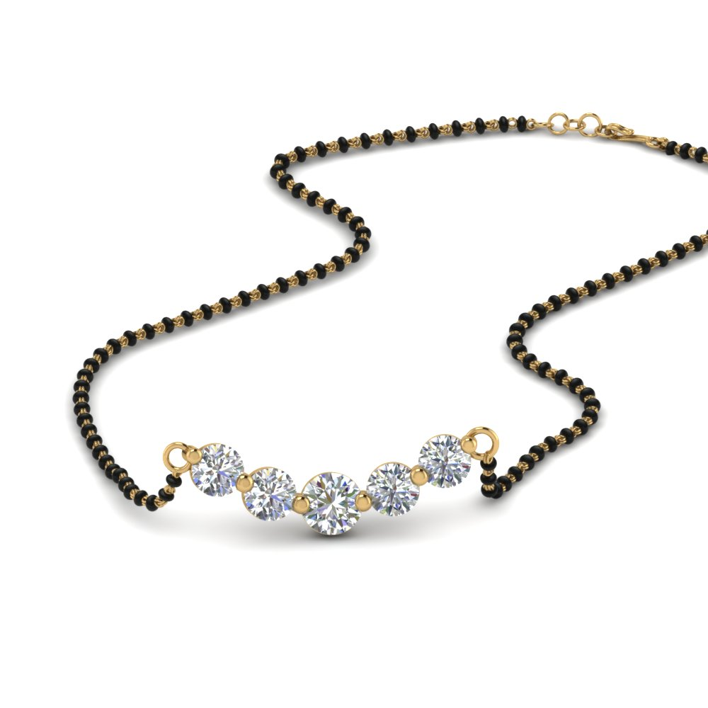 14K Yellow Gold Mangalsutra Necklace