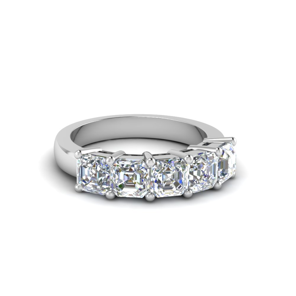 1 Ct. Asscher Diamond Anniversary Band