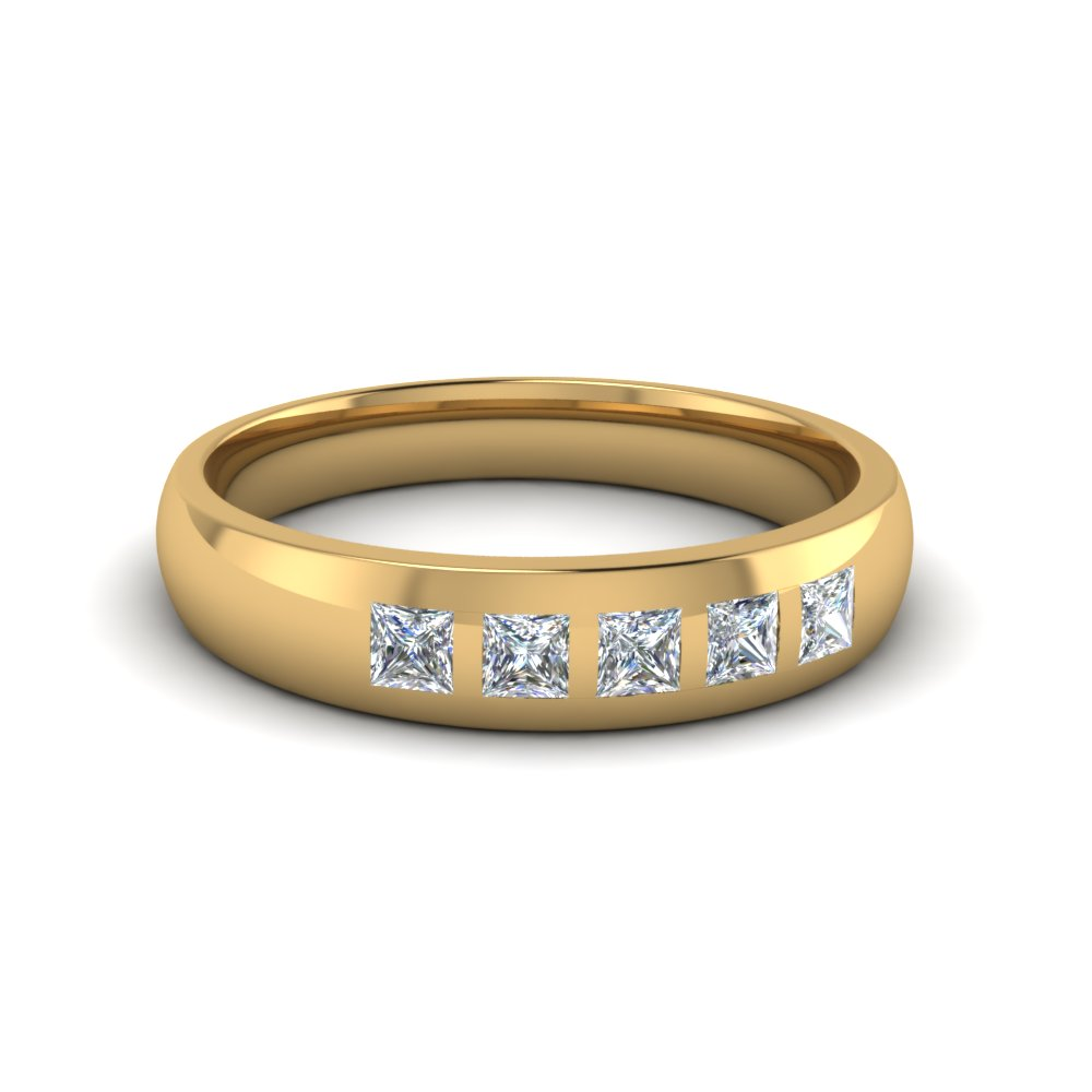 14k yellow gold white s wedding band