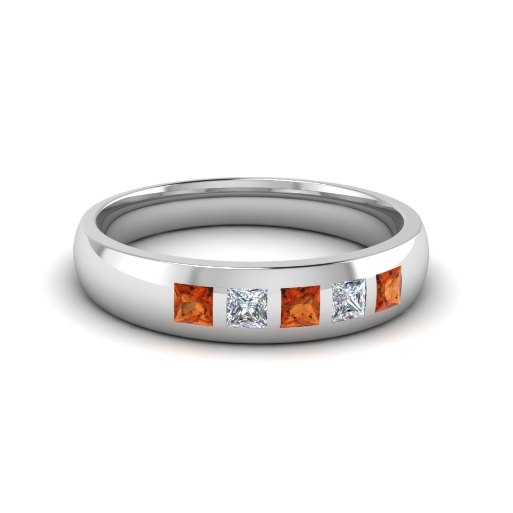 band men wg bands gold for diamond sapphire in jewelry stone mens wedding nl white with orange anniversary