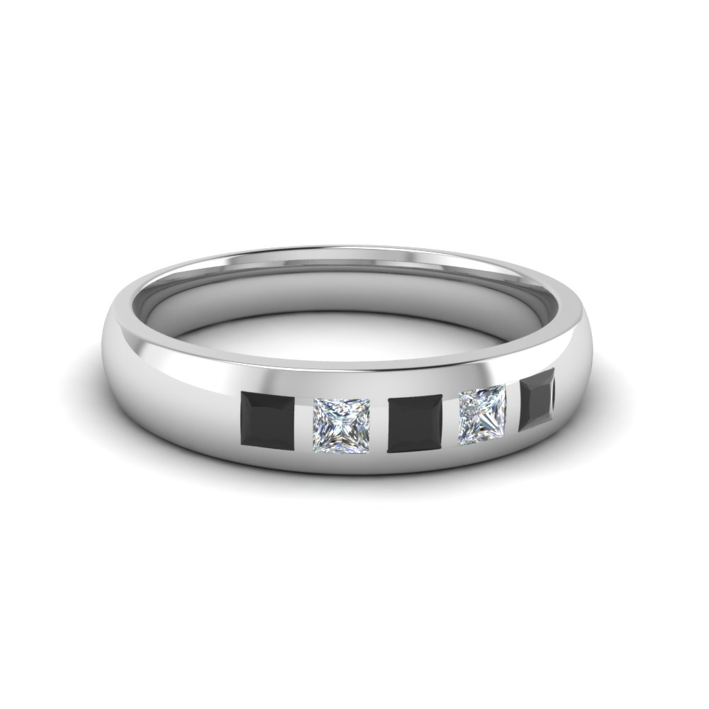 Flush Set Diamond Band For Men