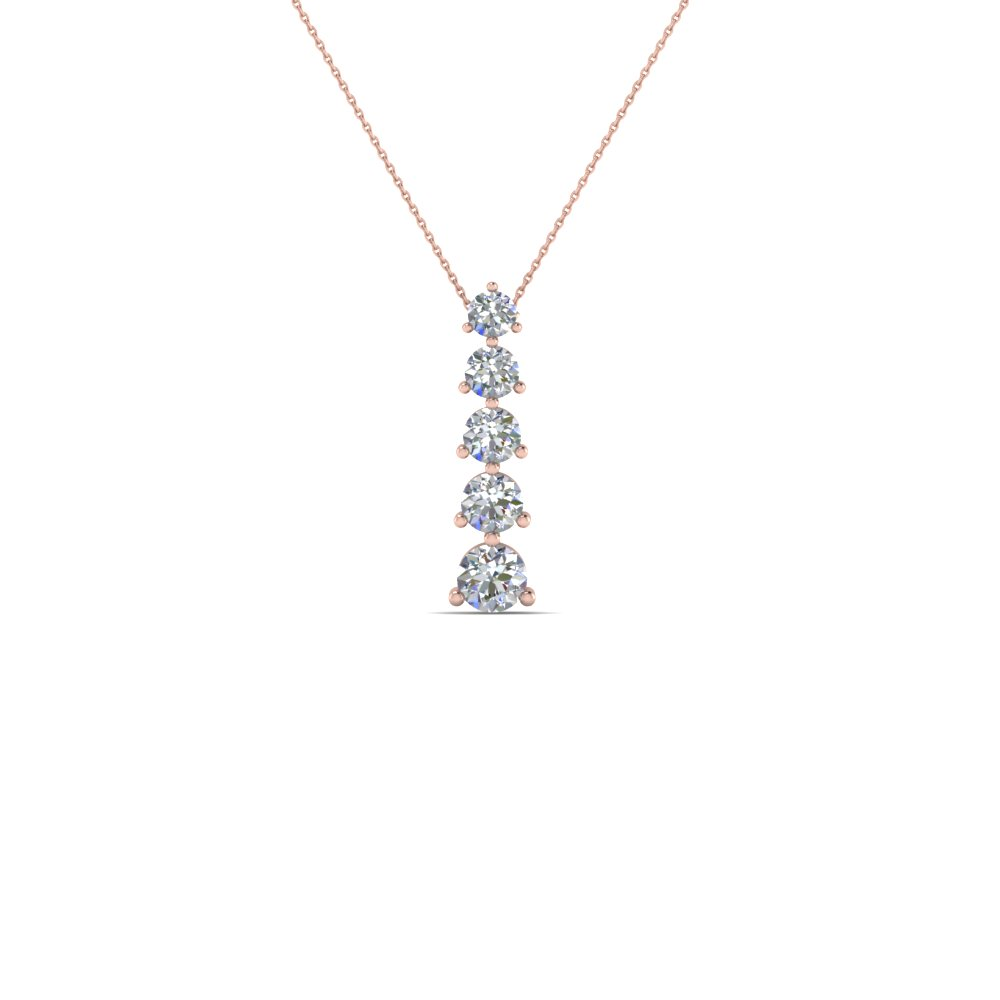 Graduated Diamond Pendant