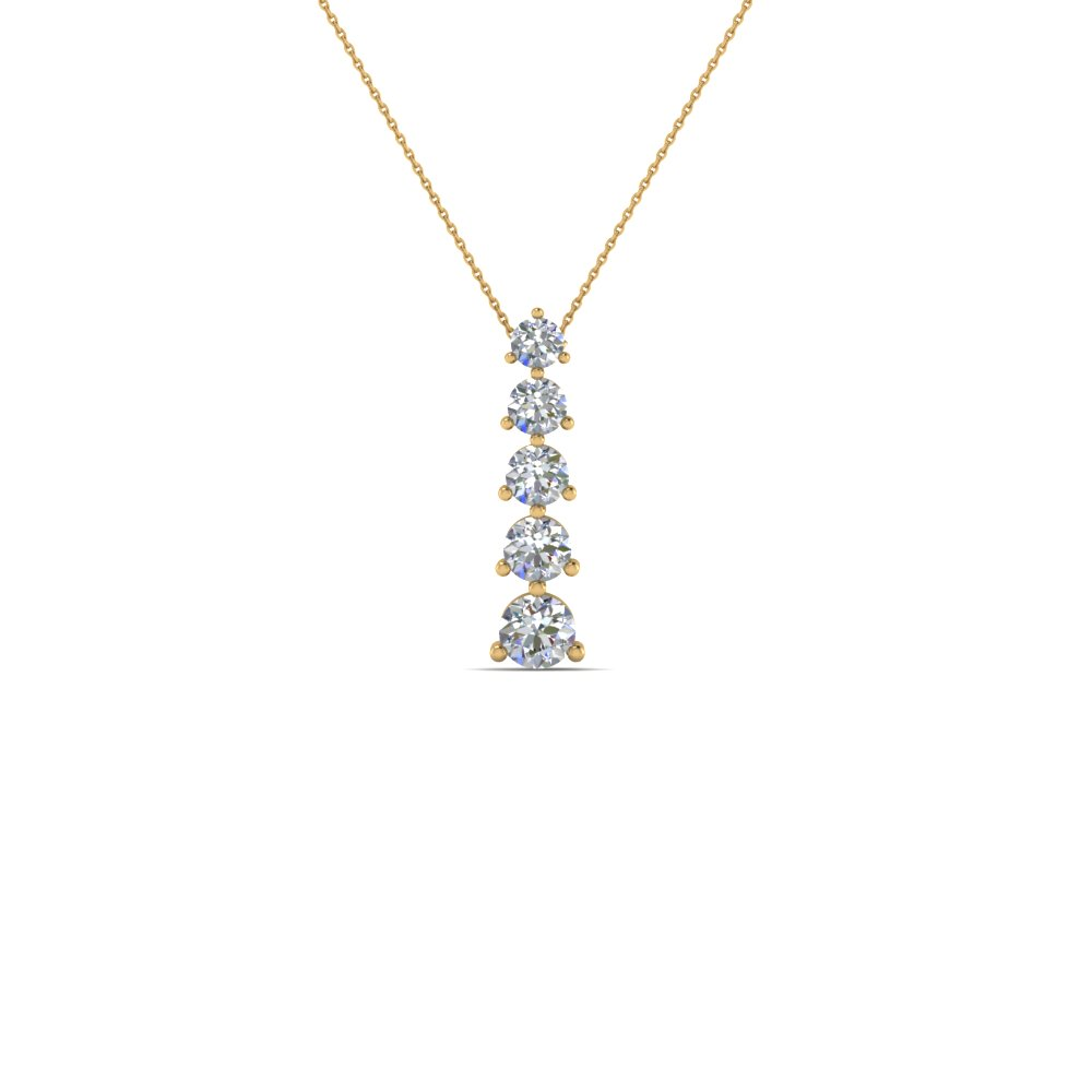 5 Stone Diamond Pendant