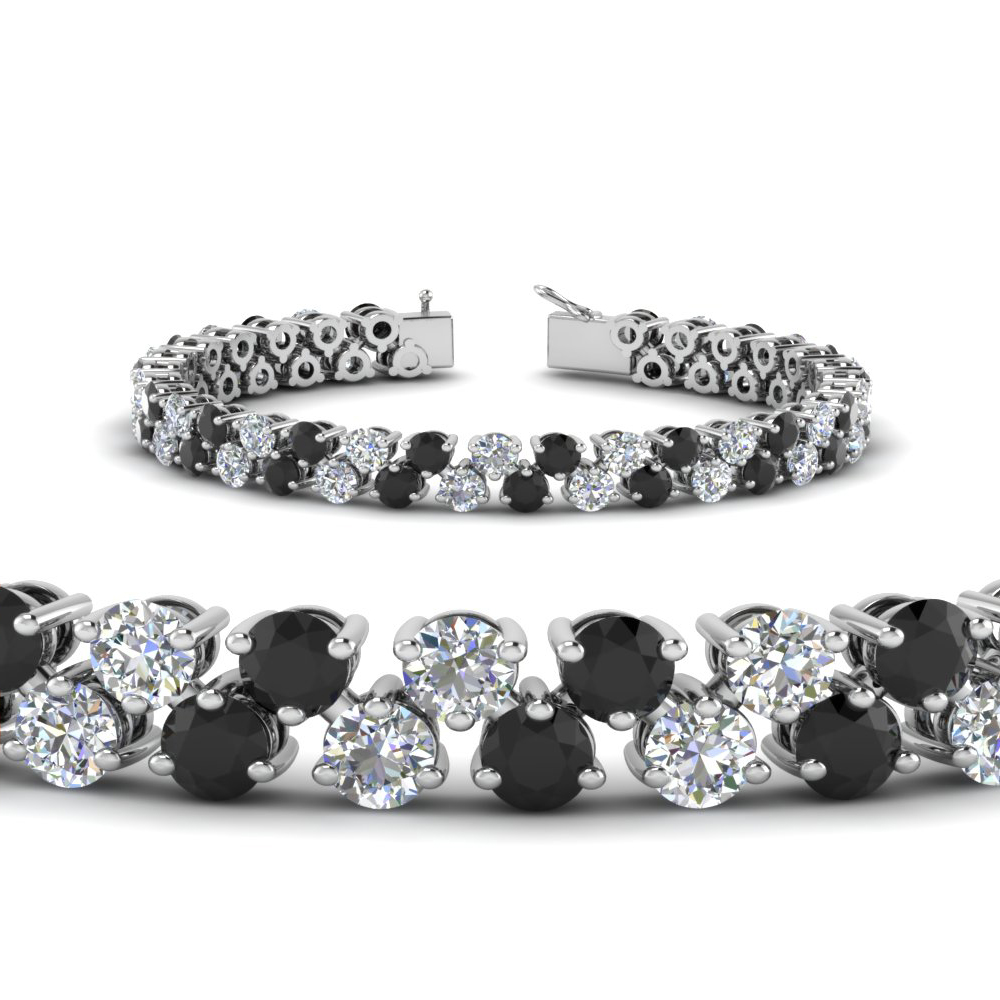 5.30 Ct. Black Diamond Tennis Bracelet