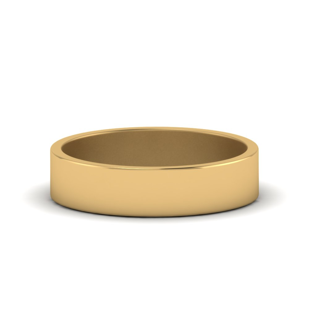 Flat Gold Wedding Band