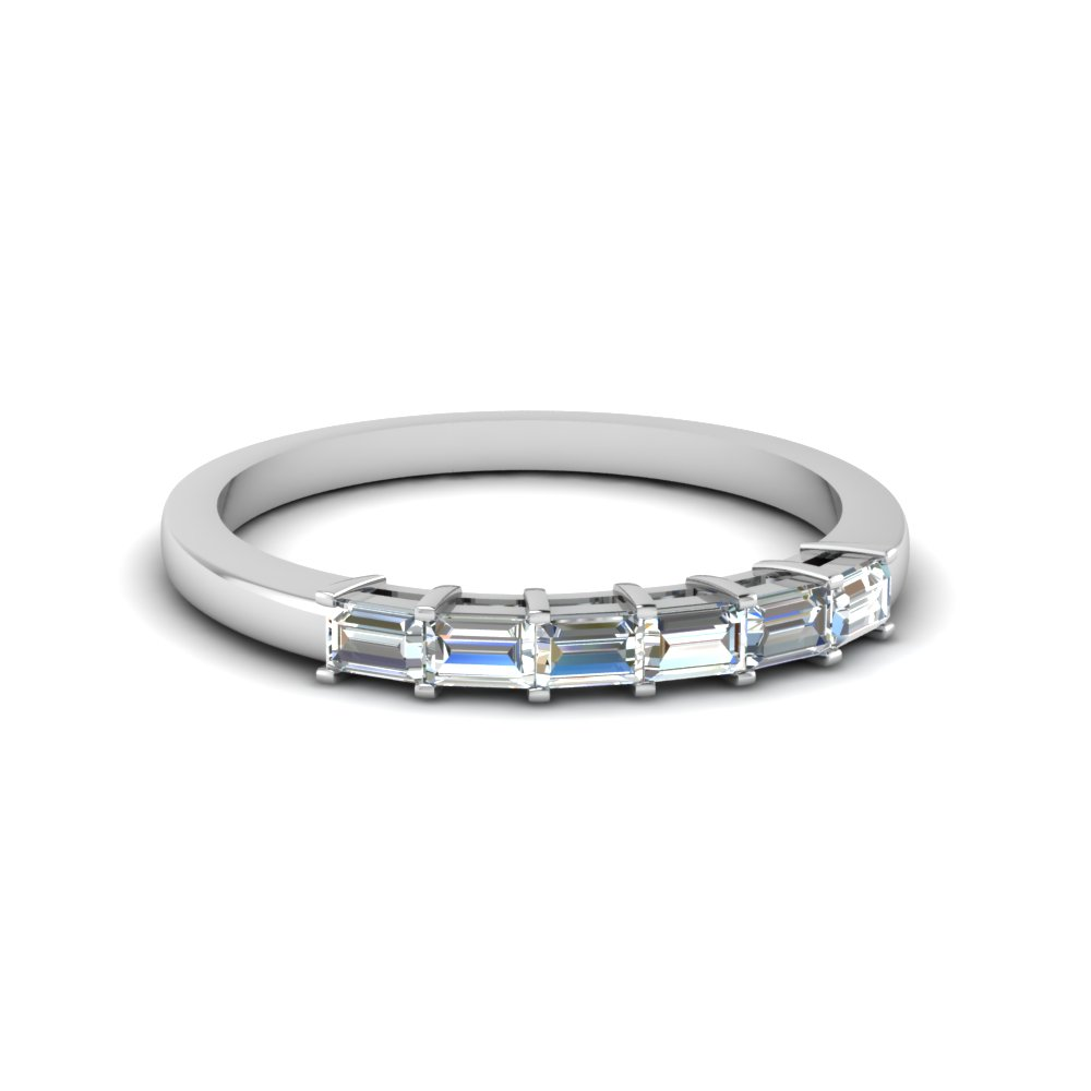 Baguette Diamond Wedding Band For Her