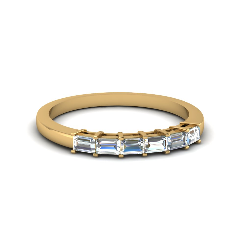 Baguette Womens Wedding Bands