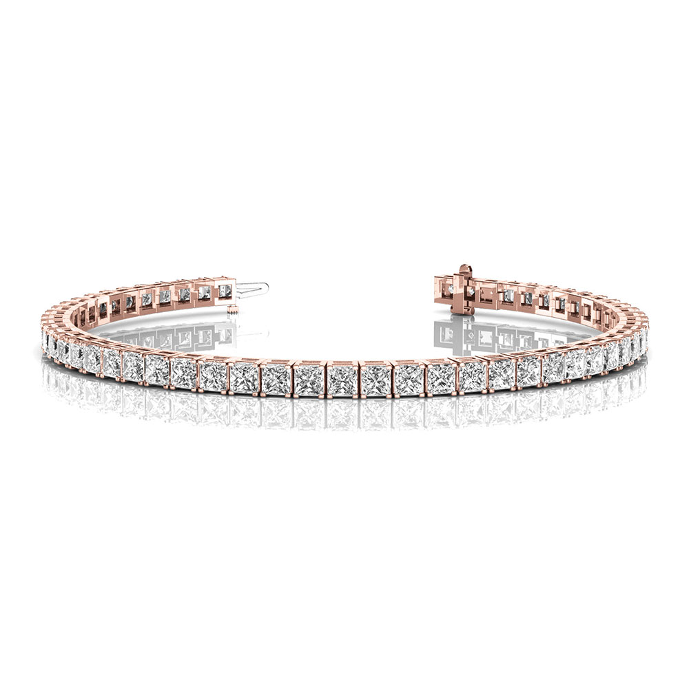 6 carat princess cut diamond tennis eternity bracelet in FDOBR70160 NL RG