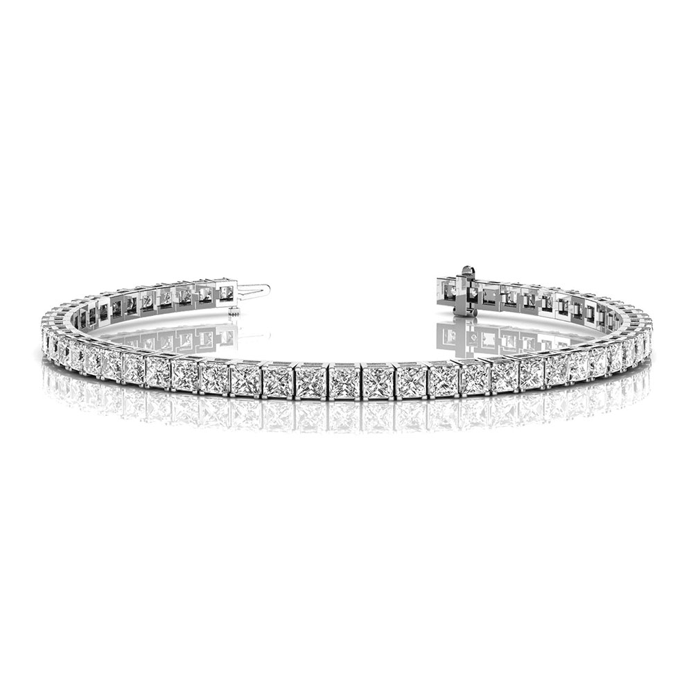 6 carat princess cut diamond tennis eternity bracelet in FDOBR70160 NL WG