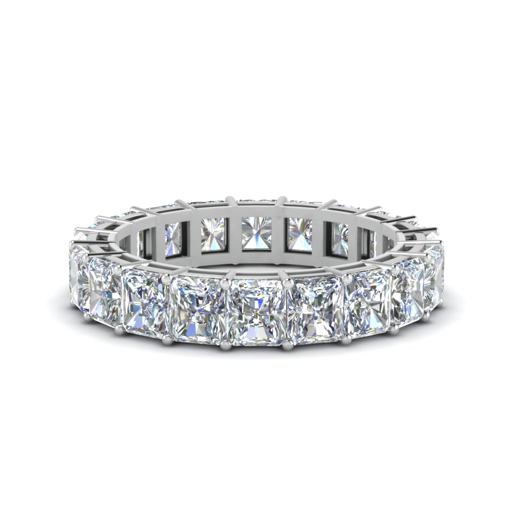 6 Carat Radiant Cut Diamond Eternity Ring