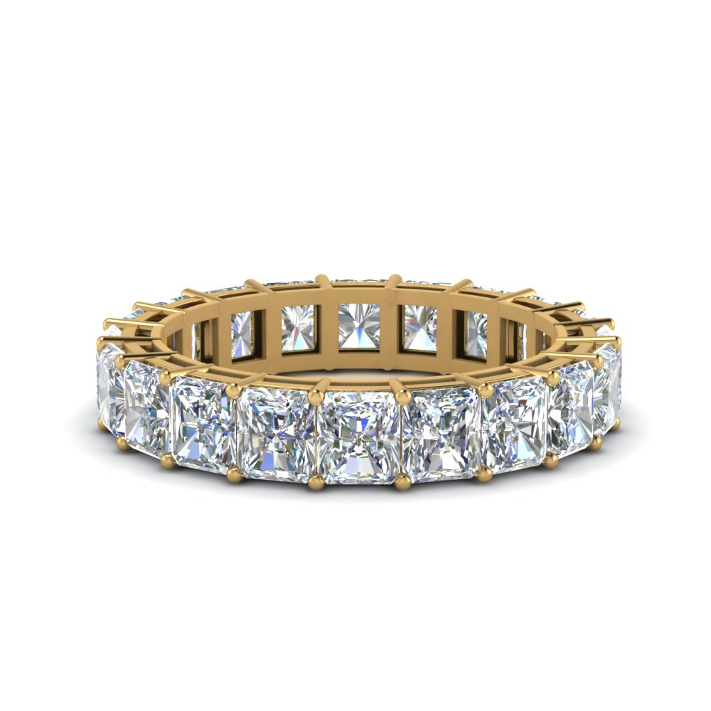 6 Carat Radiant Cut Eternity Ring