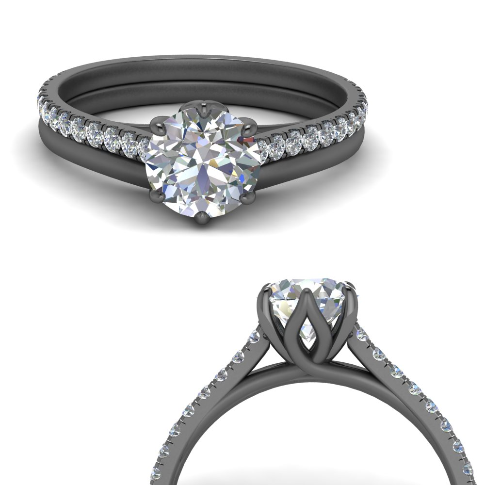 6 claw prong diamond ring with plain band in FD9109B2ROANGLE3 NL BG.jpg