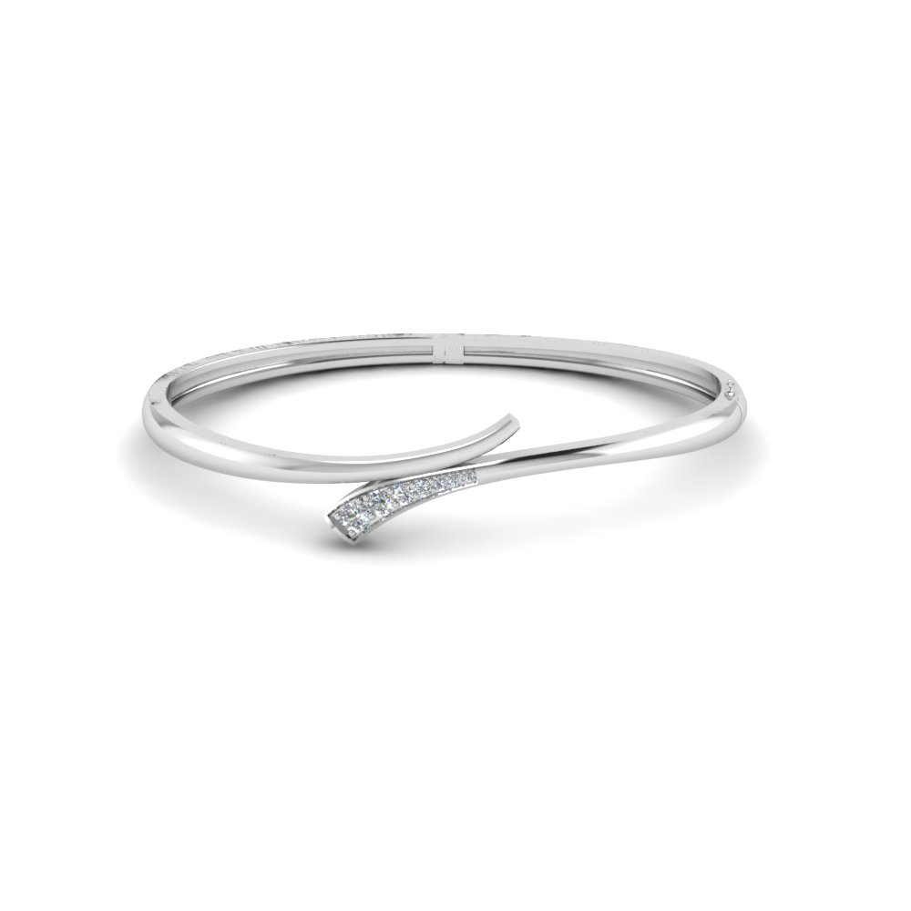 white gold out bangle bracelet pattern design bangles product diamond cut