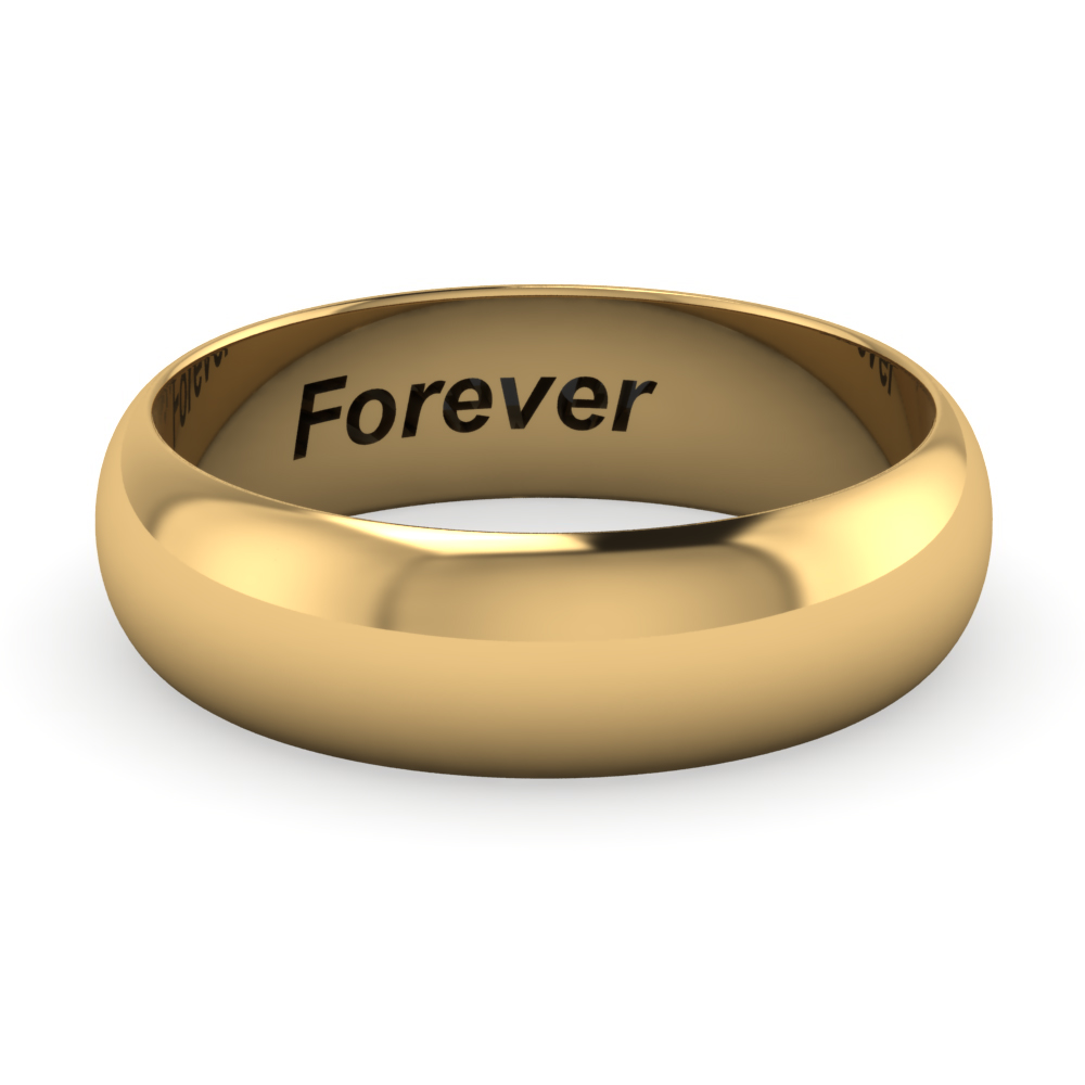 6MM Engravable Wedding Band