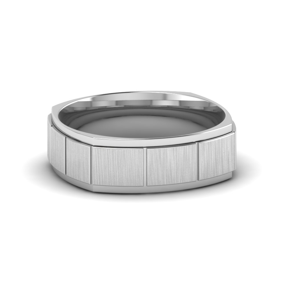 7 MM Platinum Mens Wedding Band
