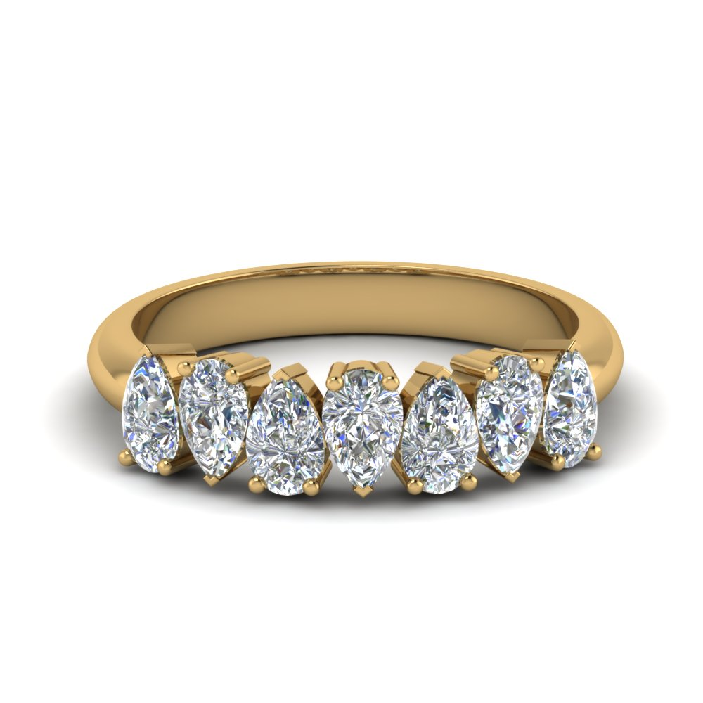 7 Pear Shaped Diamond Band