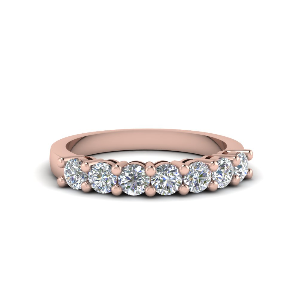 7 stone anniversary diamond band in 14K rose gold FDENS141B NL RG
