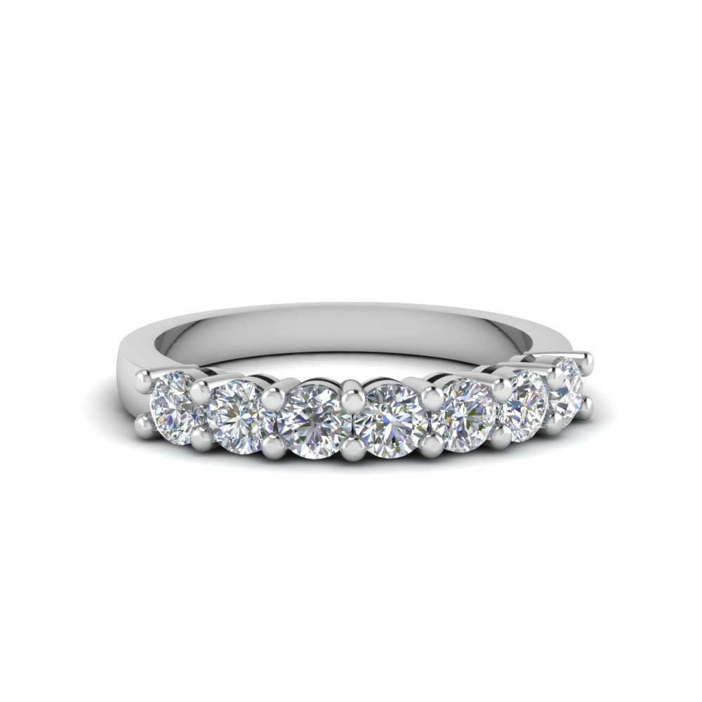 7 Stone Matching Diamond Band