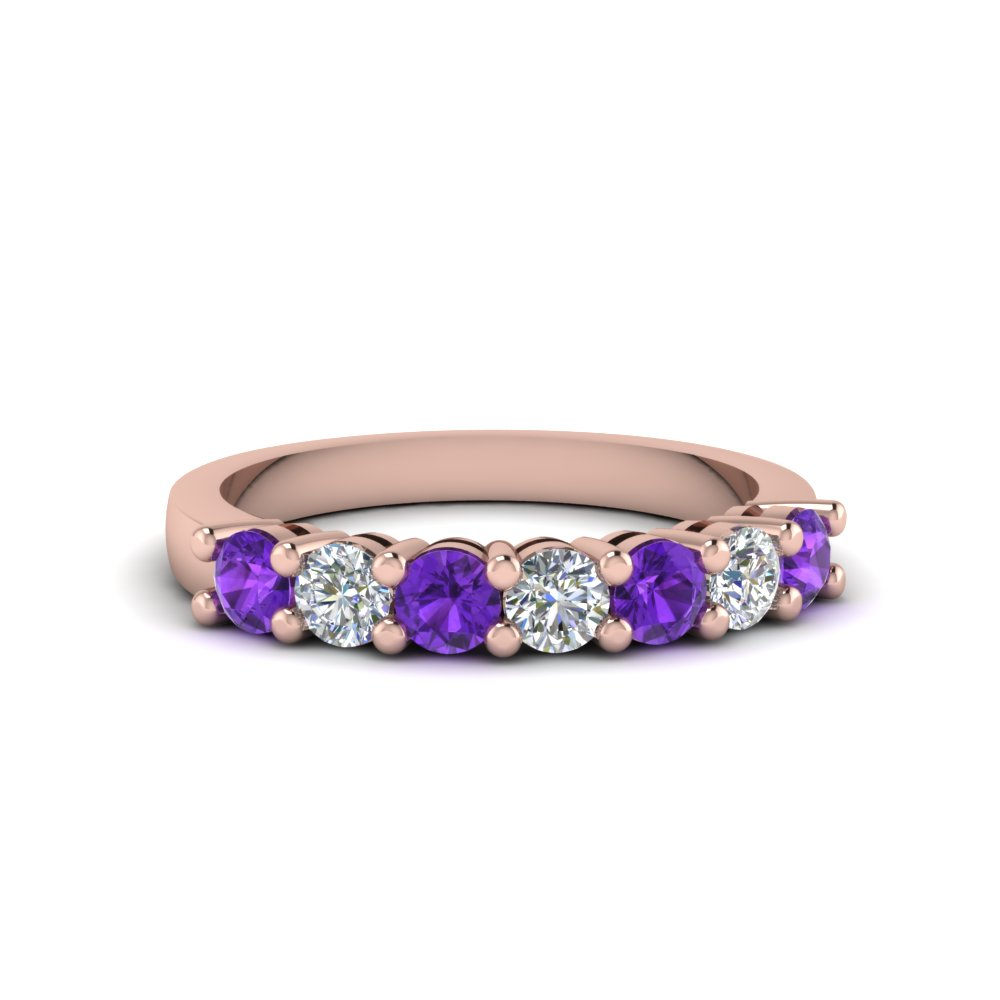 7 stone anniversary band with violet topaz in 14K rose gold FDENS141BGVITO NL RG