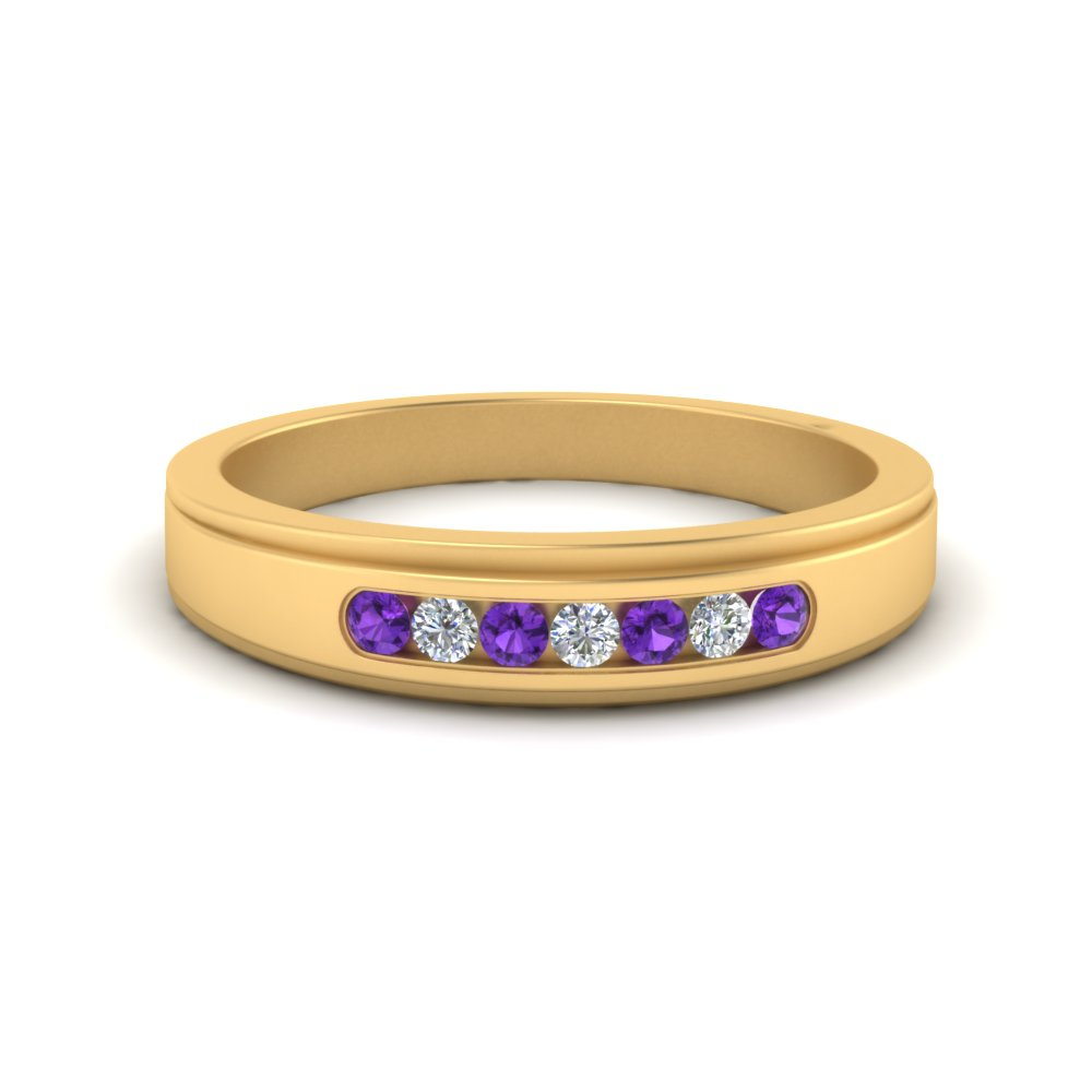 7-stone-mens-round-diamond-ring-with-purple-topaz-in-FDM124203ROGVITO-NL-YG