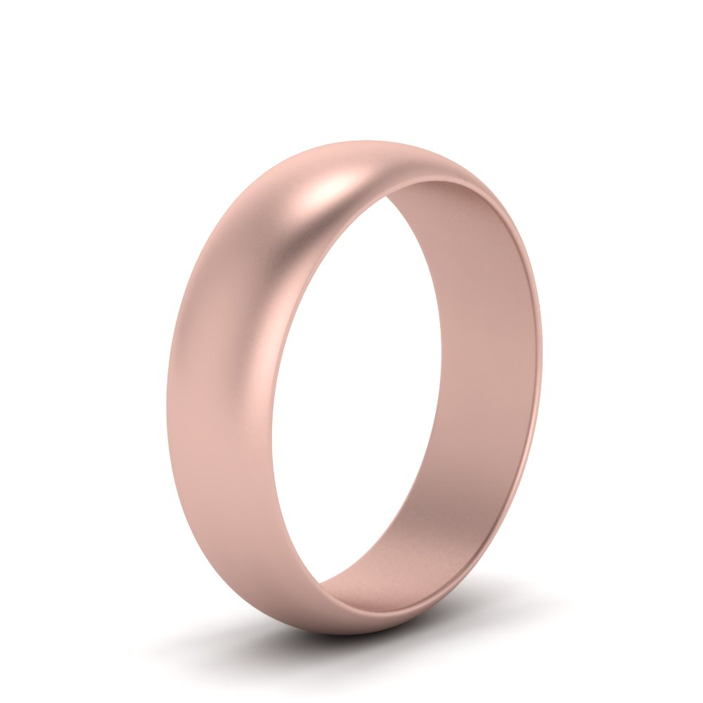 8MM Matte Polish Wedding Band Cheap In 18K Rose Gold | Fascinating ...