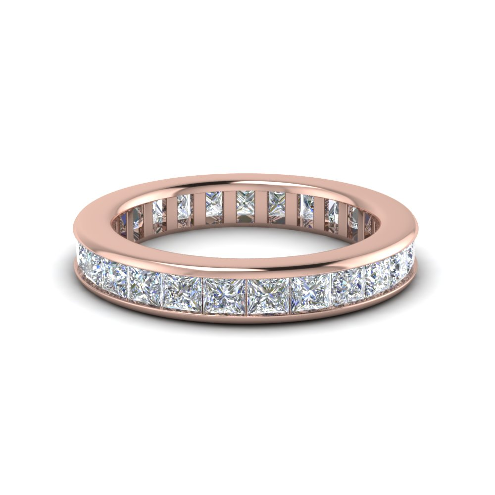 wedding set claw products princess eternity band cut bands