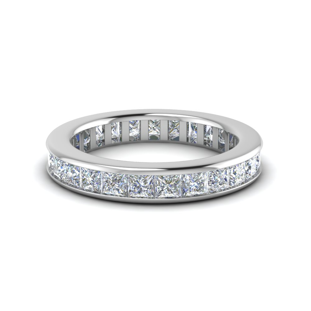 4 Ct. Channel Set Princess Cut Band