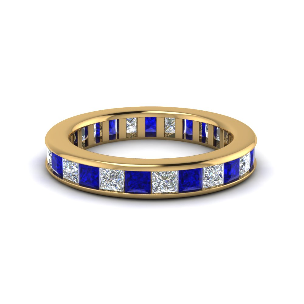 sapphire ring and context gold eternity half band p large diamond