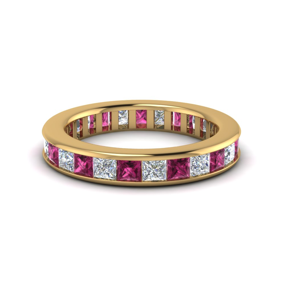 Stunning Pink Sapphire Eternity Bands | Fascinating Diamonds