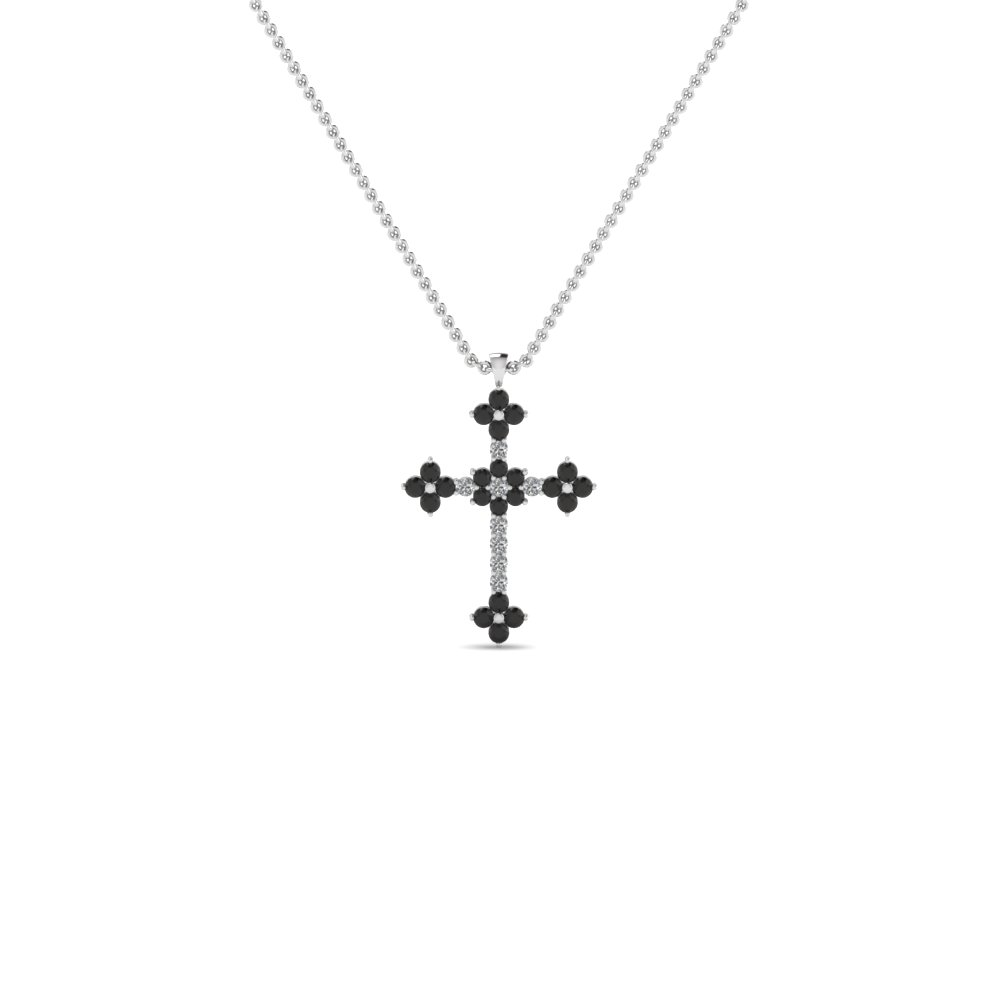 Cross diamond pendant necklace with black diamond in 14k white cross diamond pendant necklace with black diamond in 14k white gold fdrpd644gblack nl wg aloadofball Choice Image