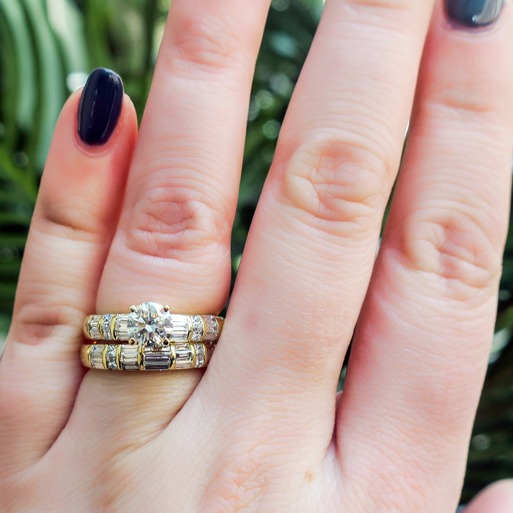 Explore marvelous collection of Baguette Engagement Ring ...