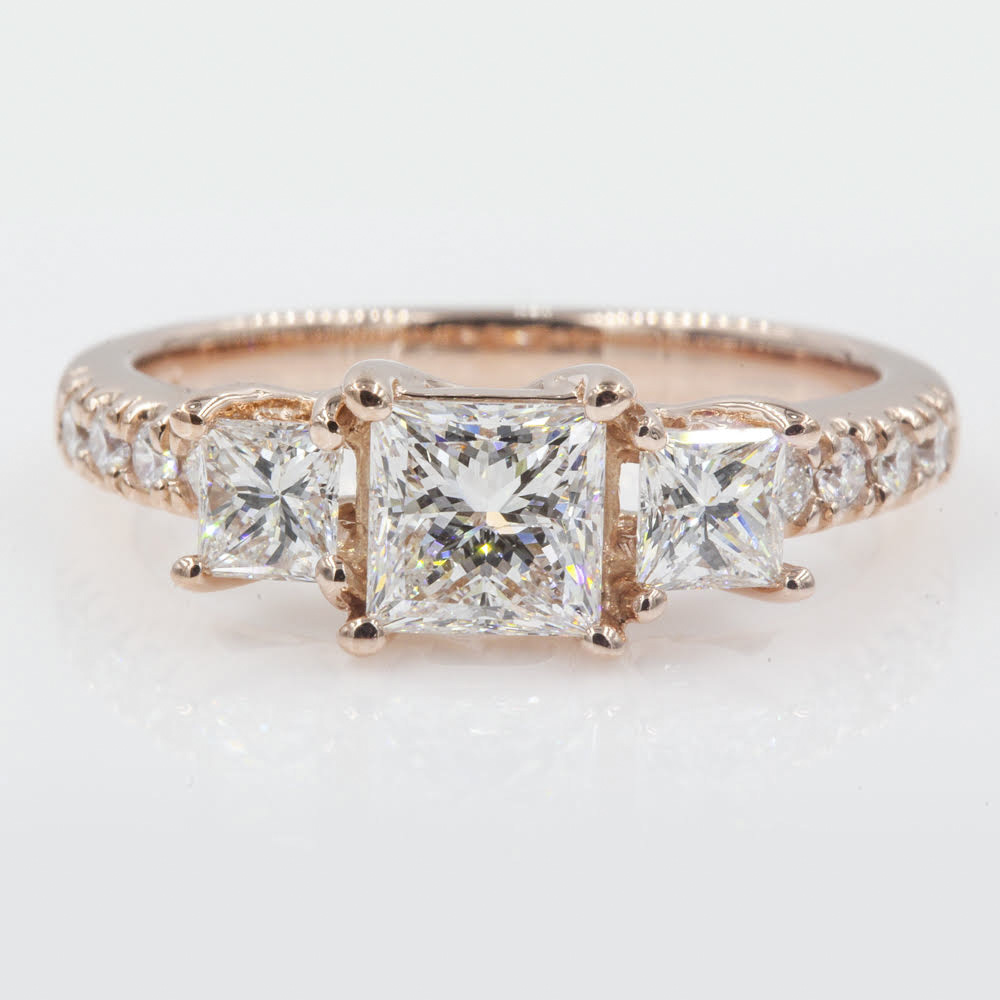 2 Carat Three Stone Ring