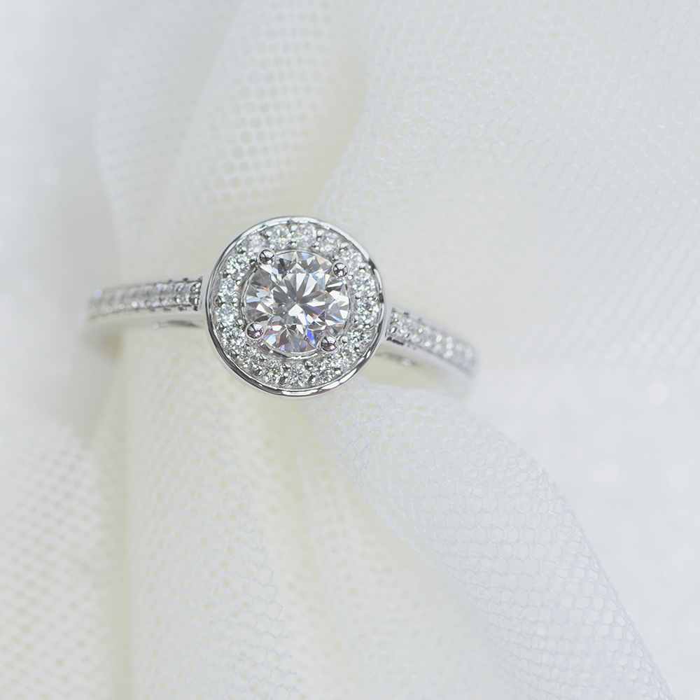 round cut petite halo pave moissanite engagement ring in FDENS3187ROR.jpg