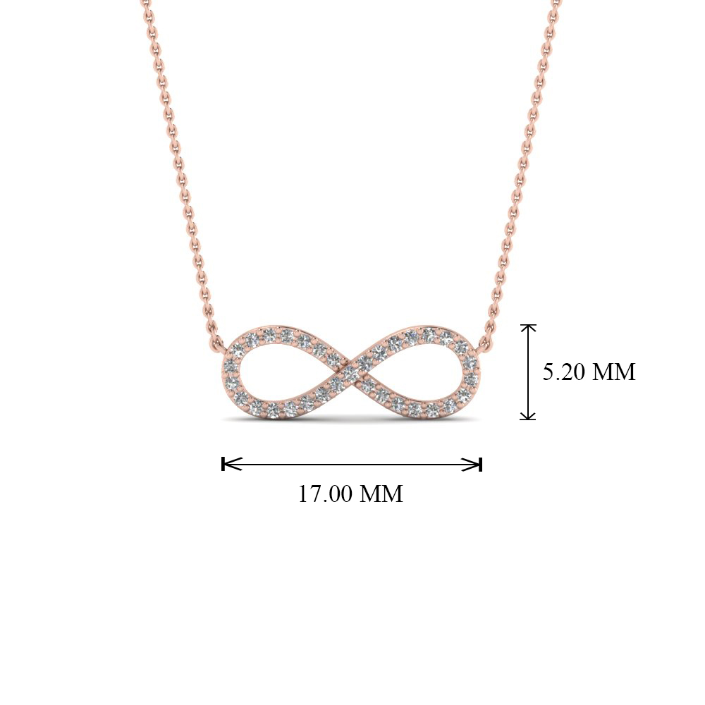 Infinity diamond necklace pendant in 14k rose gold fascinating add to cart aloadofball