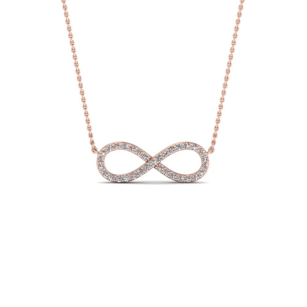 Infinity diamond necklace pendant in 14k rose gold fascinating infinity diamond necklace pendant in fdpd8074 nl rg mozeypictures