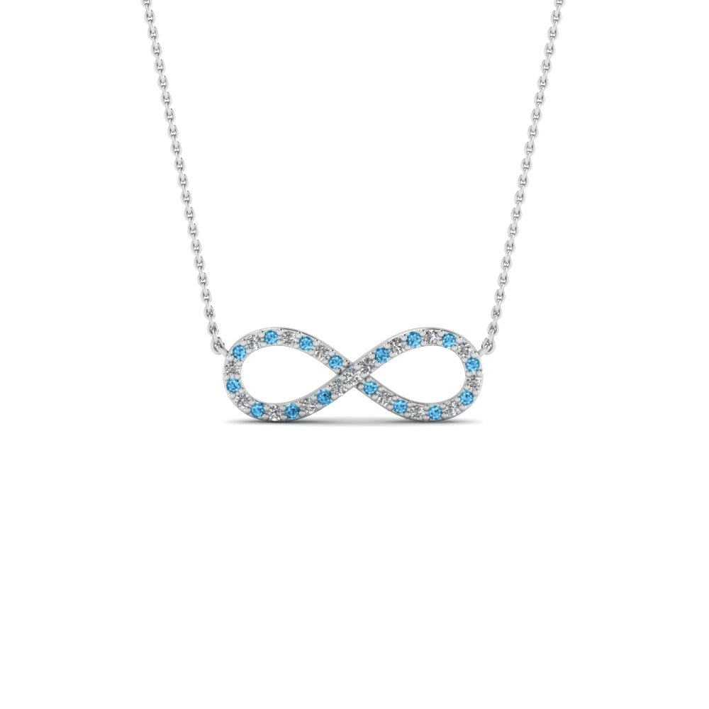 Infinity diamond necklace pendant with blue topaz in 18k white gold infinity diamond necklace pendant with blue topaz in fdpd8074gicblto nl wg aloadofball Images