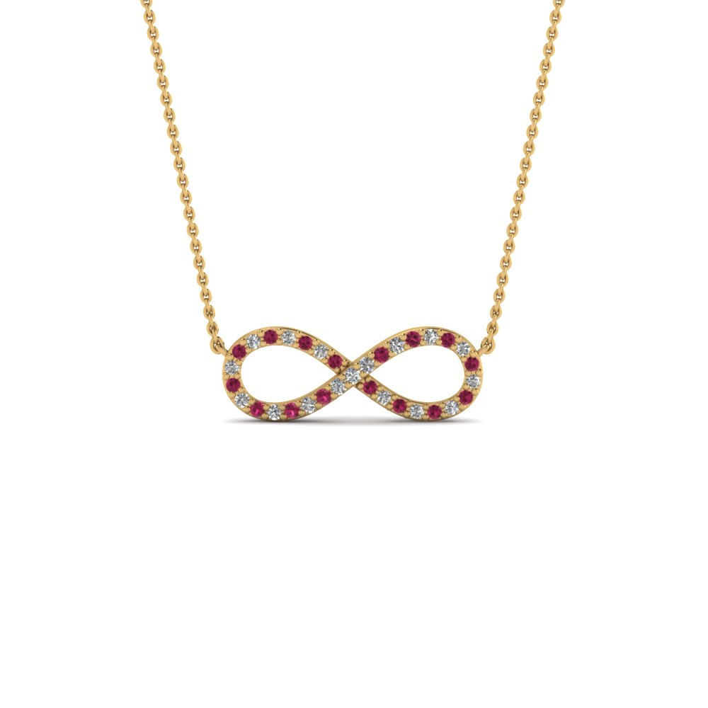 Infinity Necklace Diamond Pendant