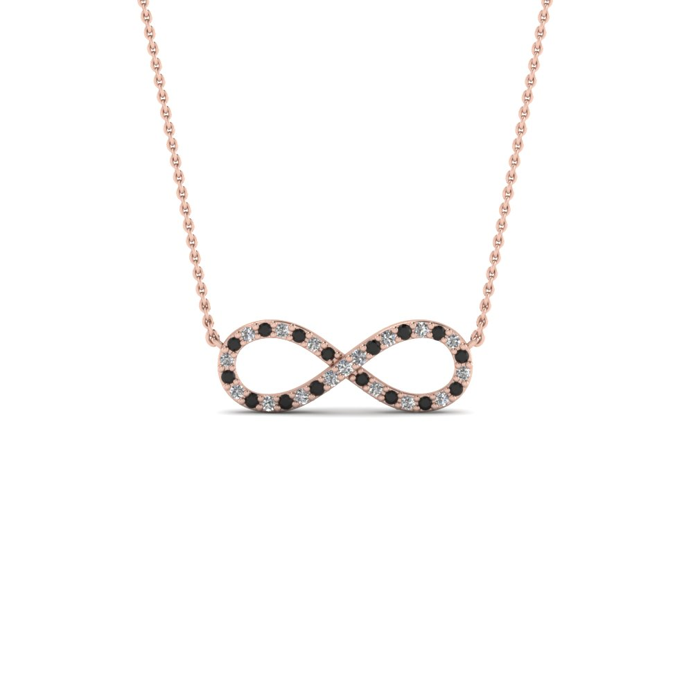Infinity necklace pendant with black diamond in 18k rose gold infinity necklace pendant with black diamond in fdpd8074gblack nl rg aloadofball Gallery
