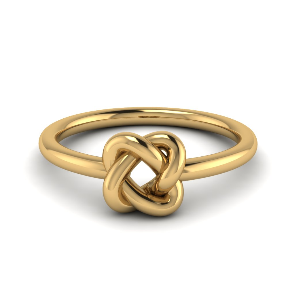 Gold Love Knot Wedding Ring