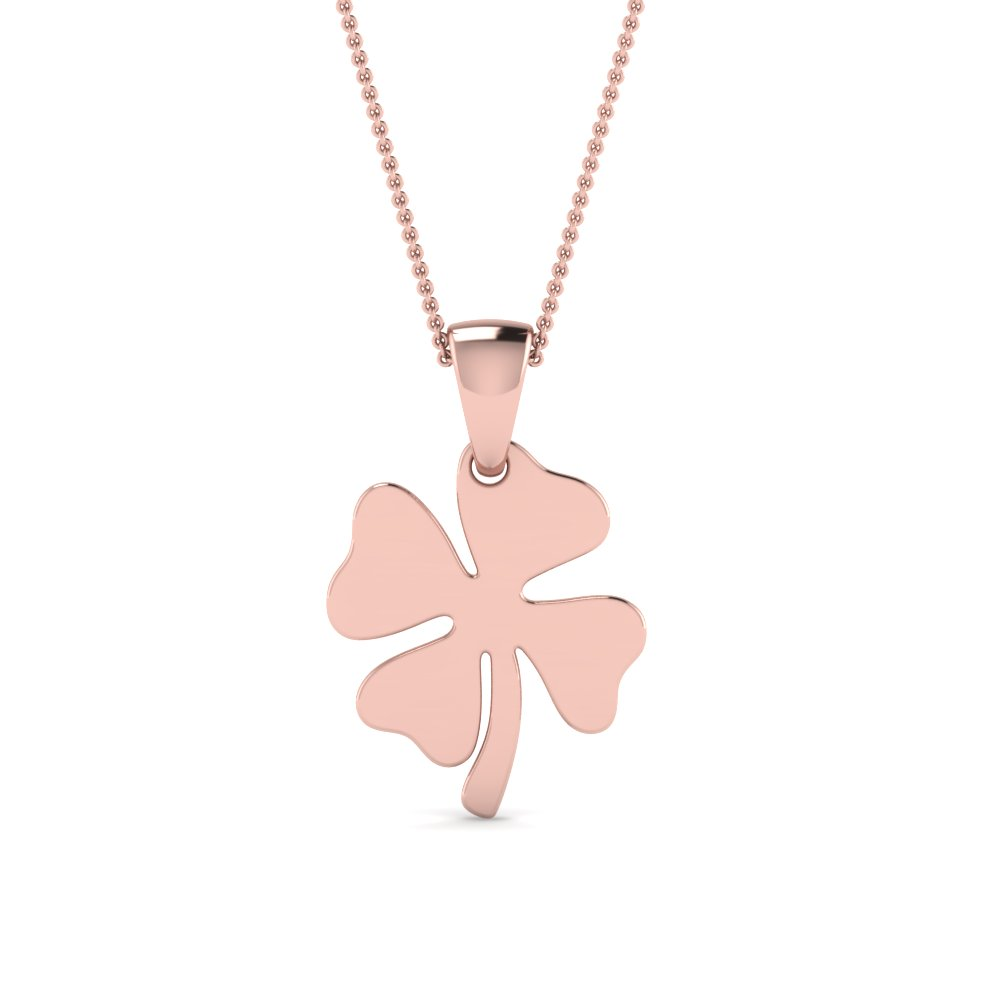 Cheap Rose Gold Flower Pendant