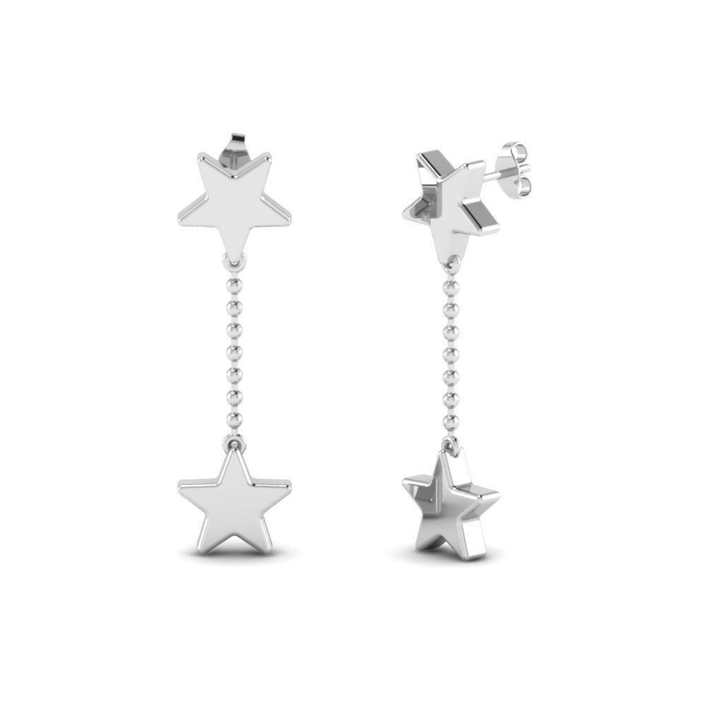 Shooting Star Dangle Earrings In Sterling Silver Fdear192001