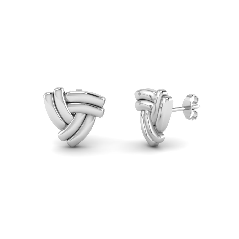 Triad-Knot-Stud-Earrings-in-14K-white-gold-FDEAR86171-NL-WG
